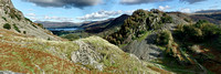 Derwentwater and Castle Crag from Levels Mine
