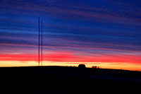 Sunset behind the Calbeck Masts