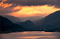 Sundown over Castle Cragg Derwentwater