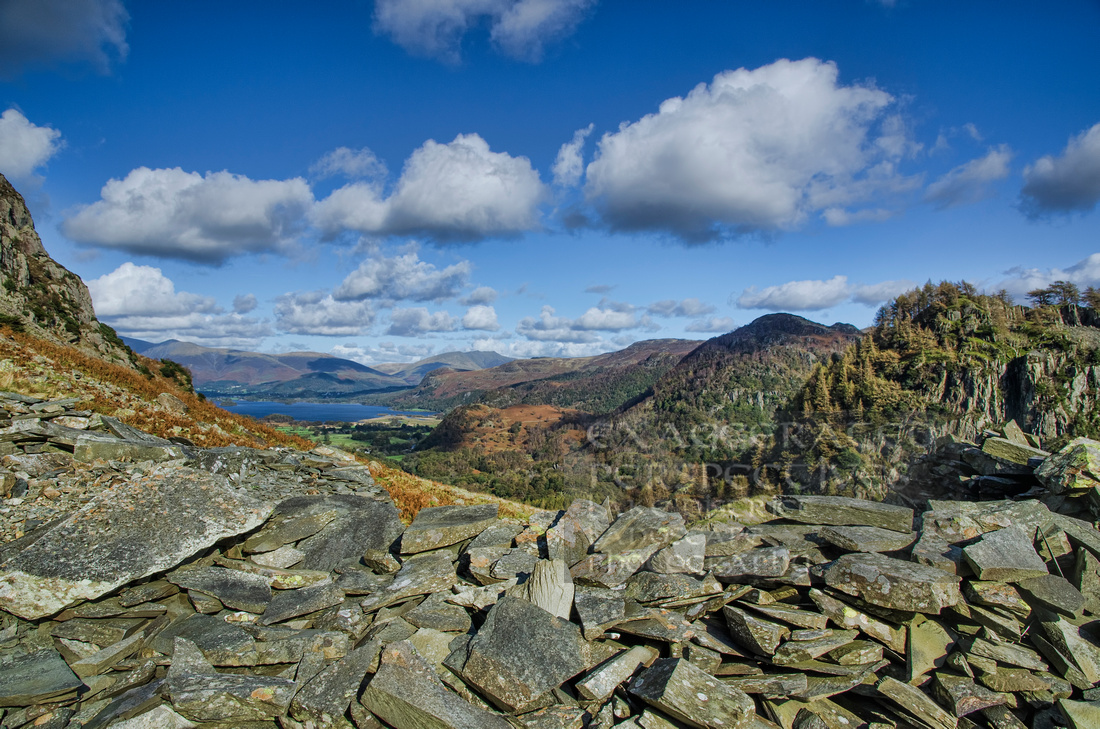 Derwentwater and Castle Cragg from Levels Mine
