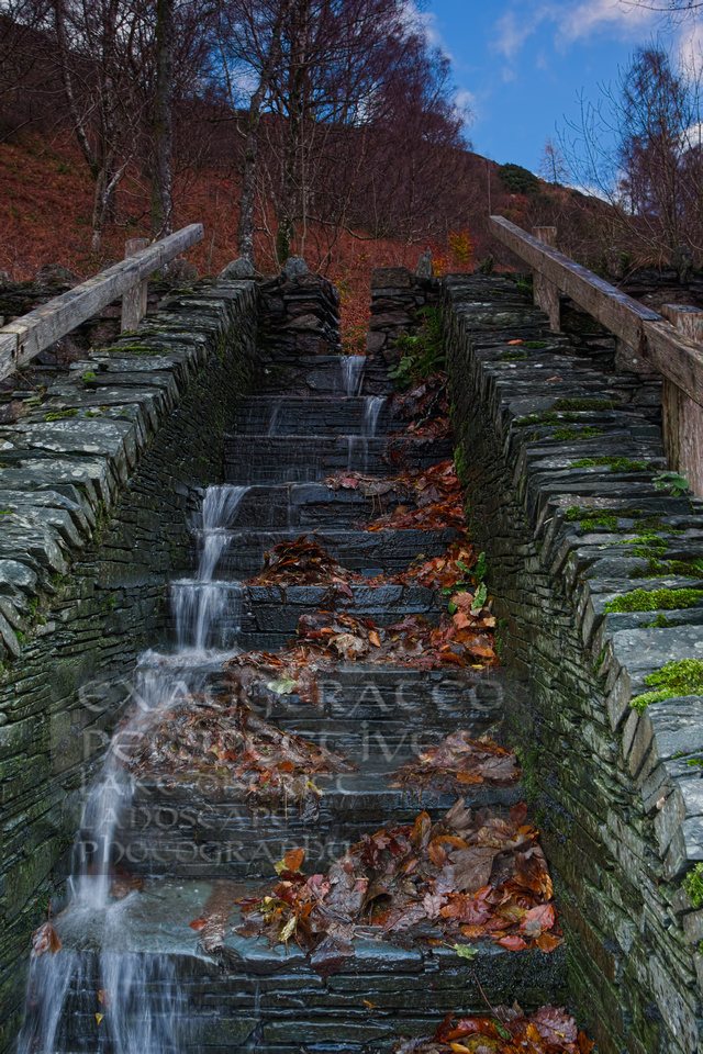 Filling the lake any way it can Ashness landing steps Derwentwater