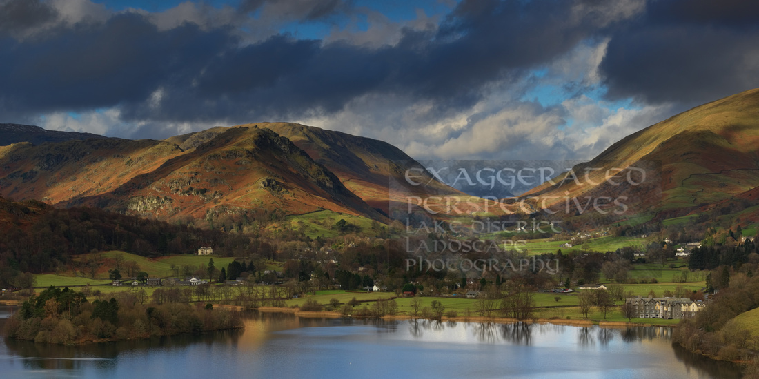 Bible Black Grasmere and Dunmail Raise from Loughrigg Terrace