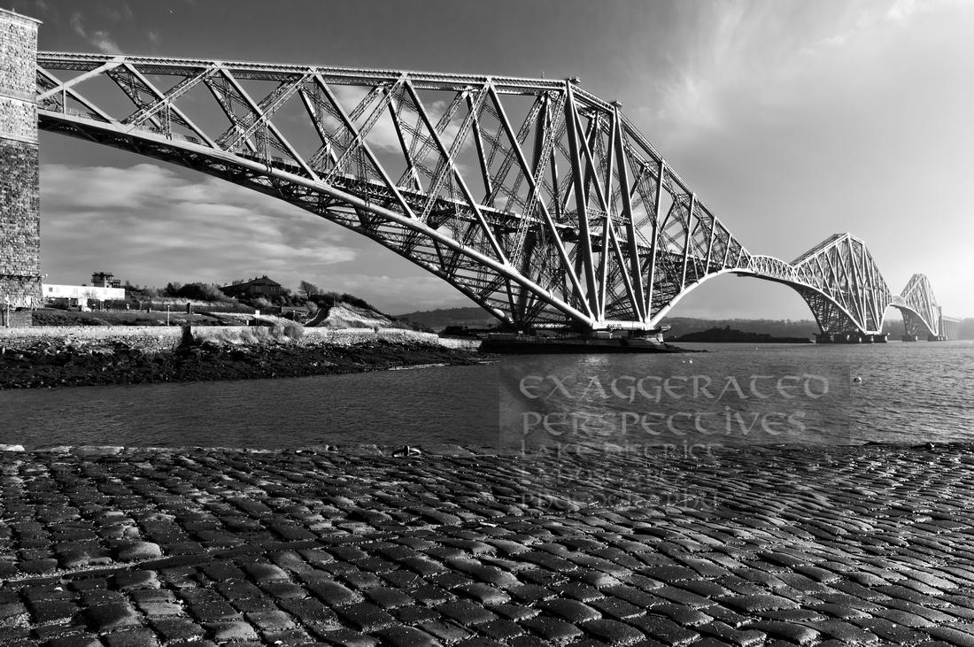 Cobblestone Black Forth Bridge From North Queensferry